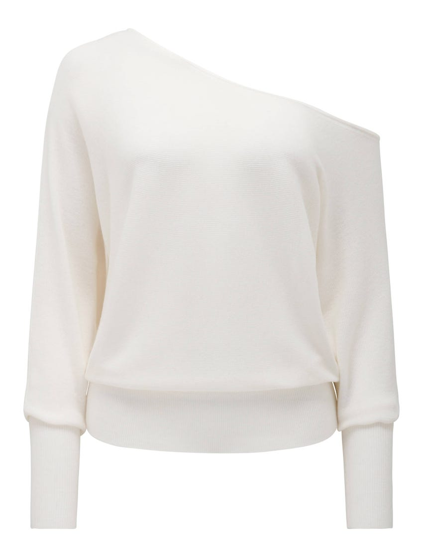 Sadie Tip-Shoulder Sweater