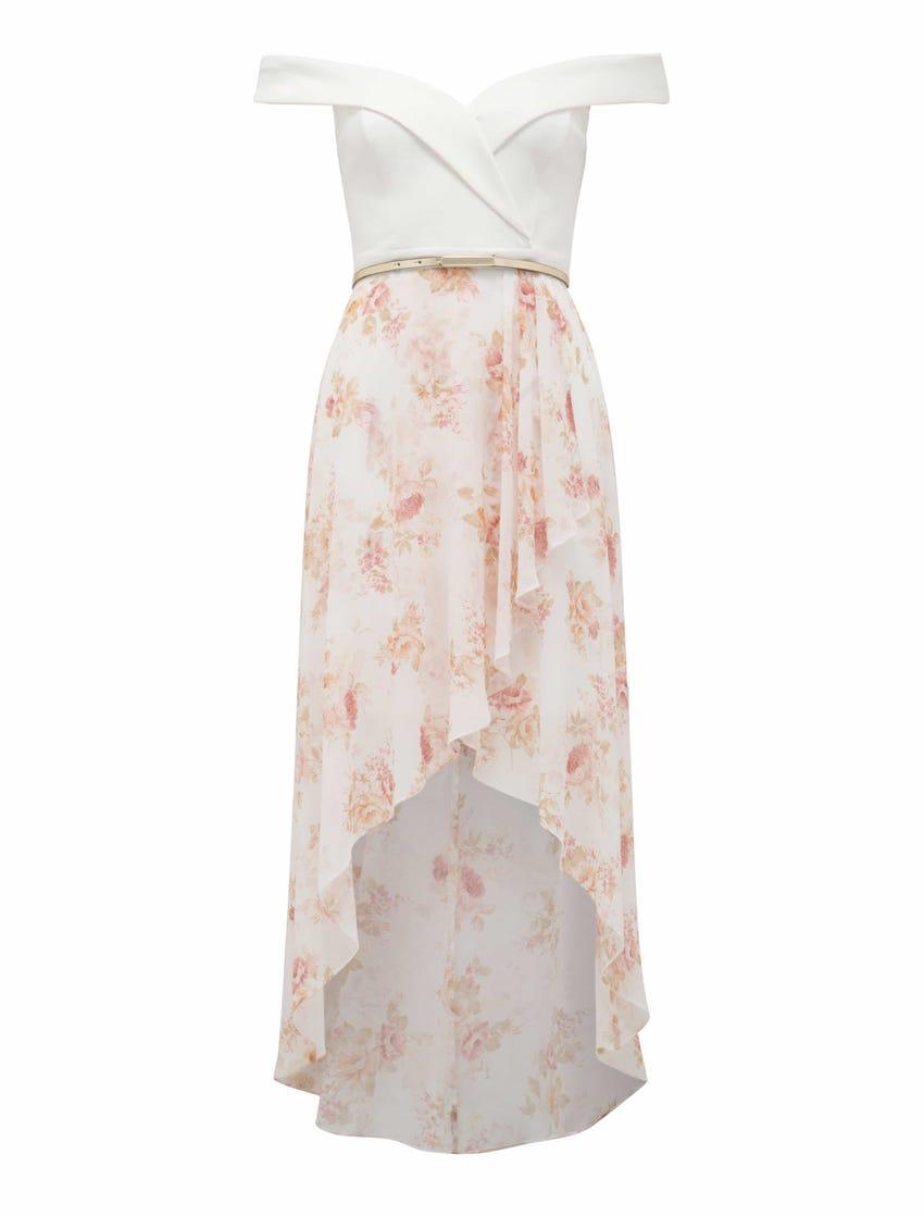 Season Off-Shoulder Two-in-One Dress