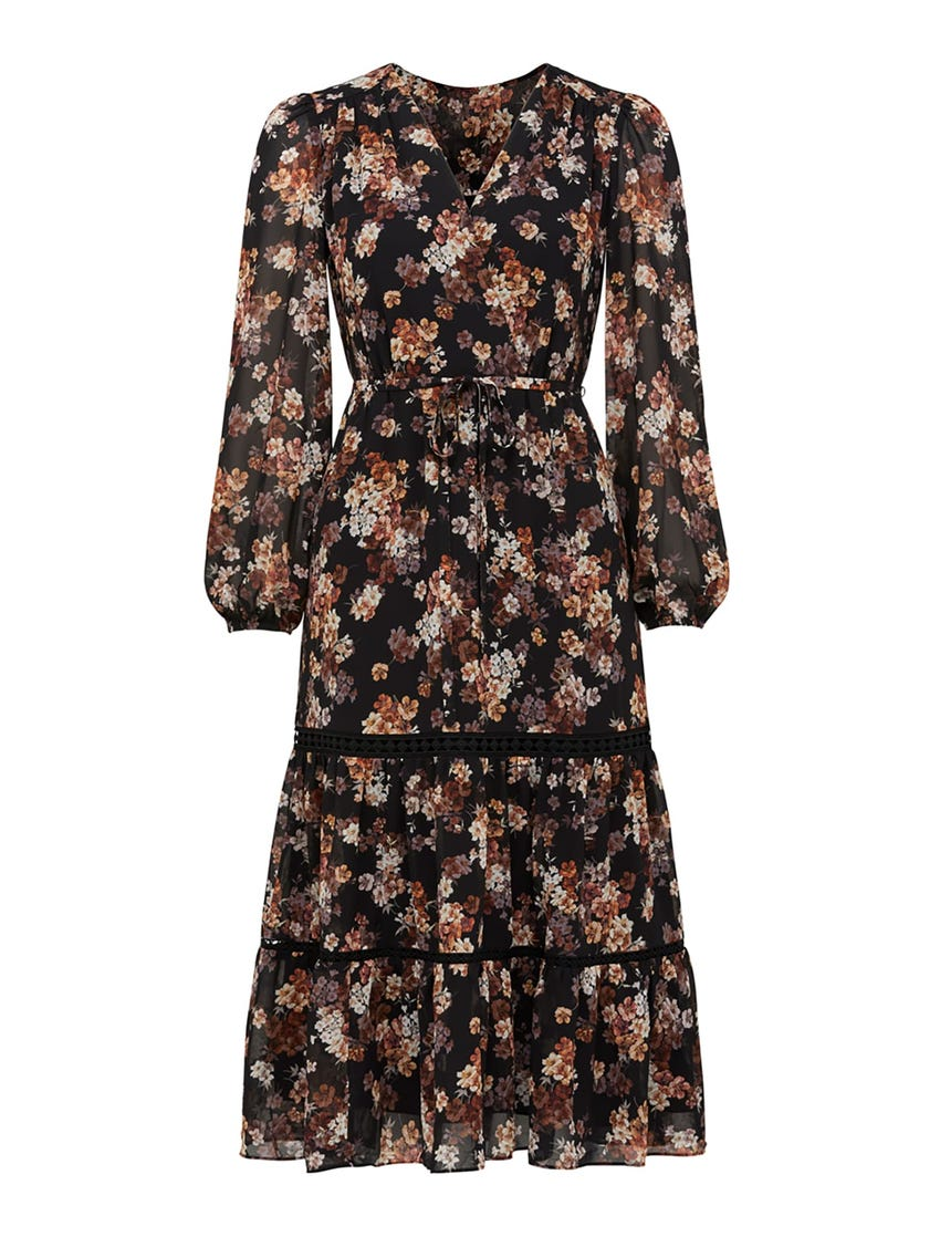 Stacey Petite Trim Midi Dress