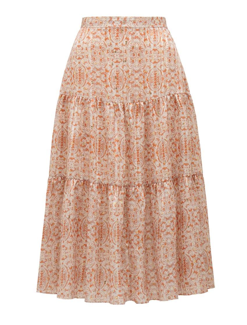 Taliyah Tiered Midi Skirt