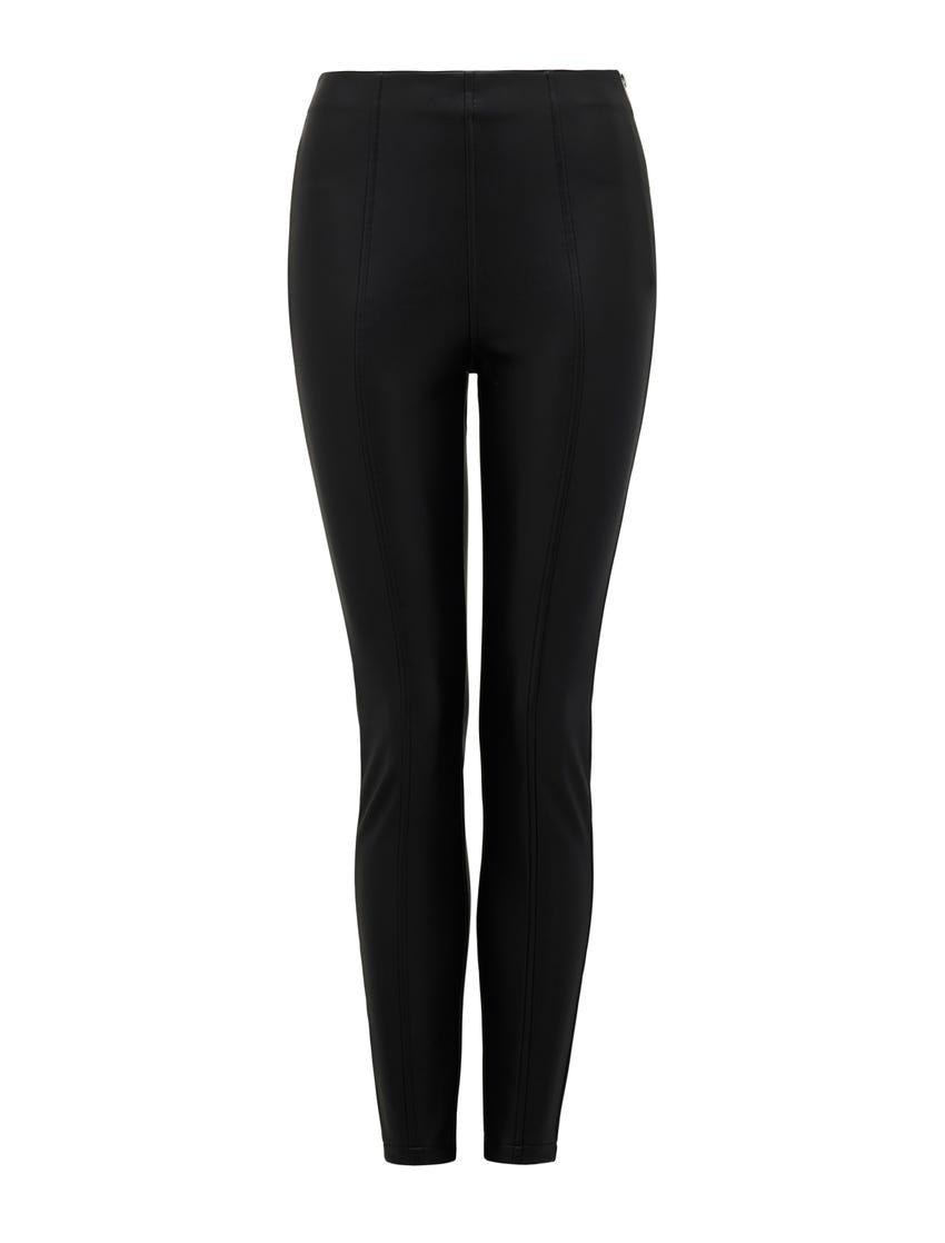 Tonya Faux Leather High-Waist Pants