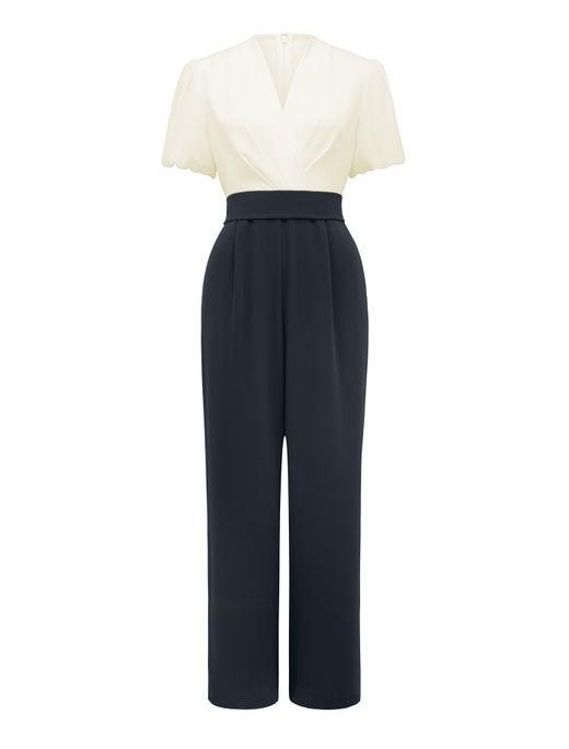 Aria Petite Short Sleeve Jumpsuit