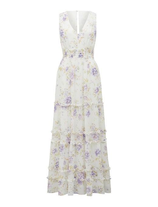 Ashley Ruffle Maxi Dress