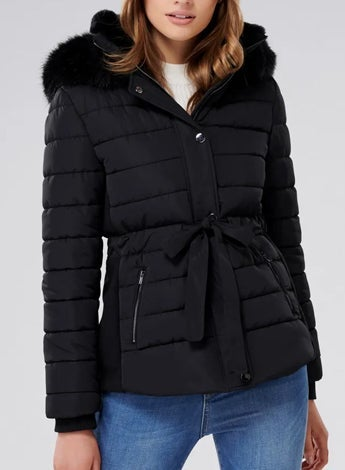 Autumn Cinched Puffer Jacket