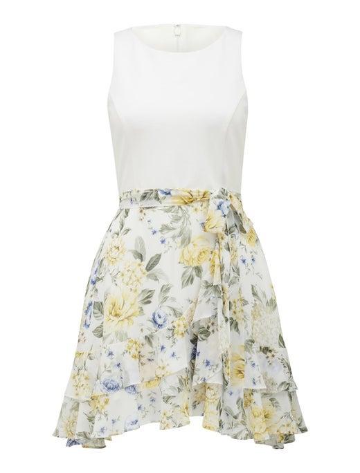 Cindy Petite Two-in-One Ruffle Mini Dress