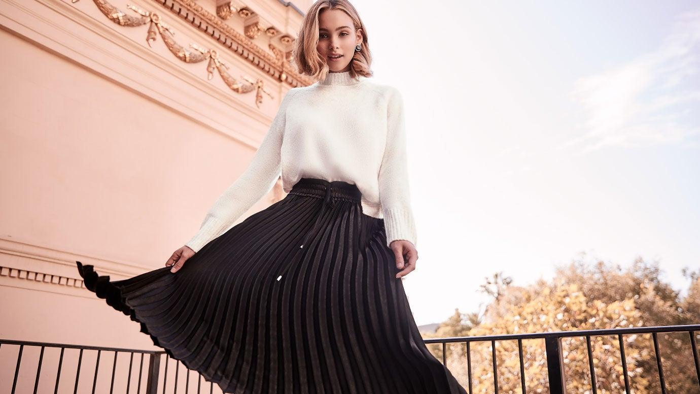 Ever New skirt and sweater