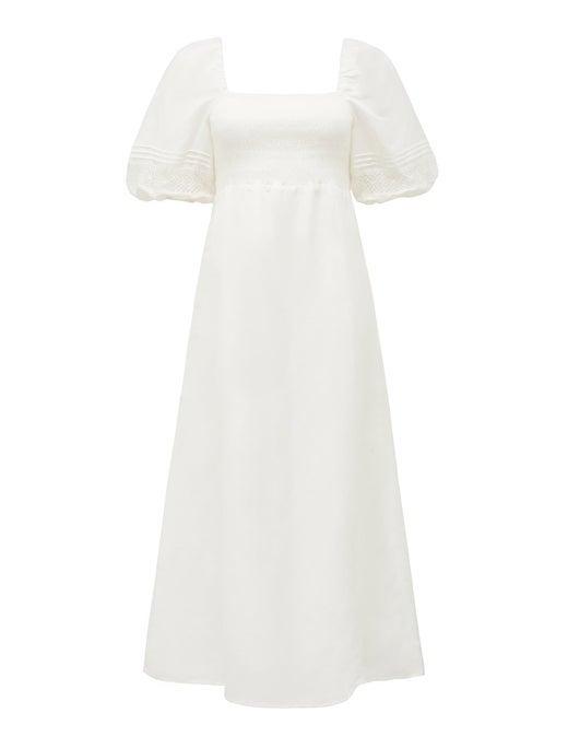 Indiana Lace Spliced Midi Dress