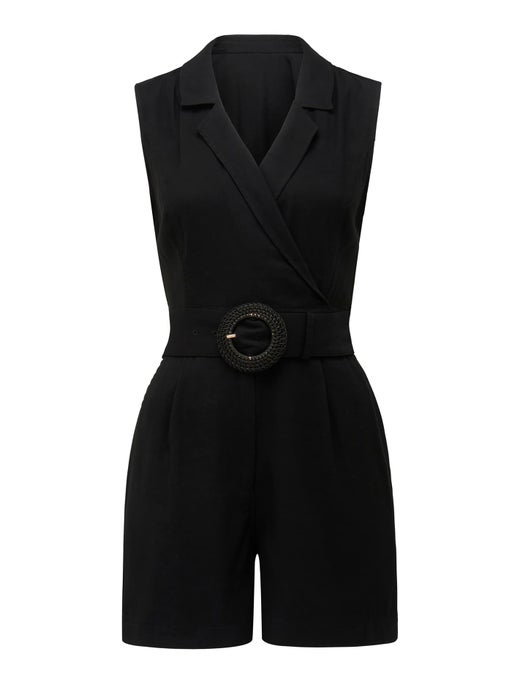Polly Wrap Belted Playsuit