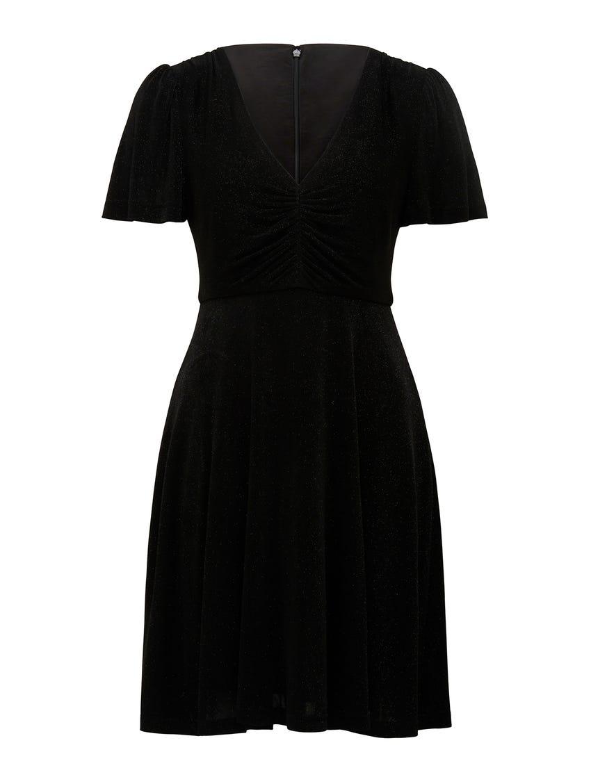 Rylie Short-Sleeve Glitter Dress