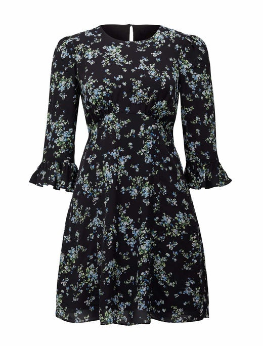 Vanessa Long-Sleeve Mini Dress