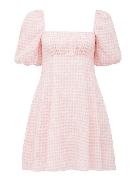 Veronica Puff-Sleeve Mini Dress